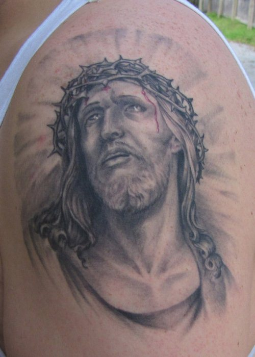 20 religious jesus christ tattoo designs and ideas. Black Bedroom Furniture Sets. Home Design Ideas