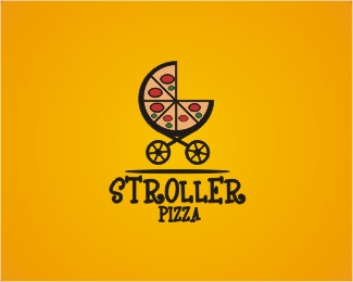 Stroller Pizza Logo Design