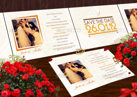 Clean Wedding Invite Template