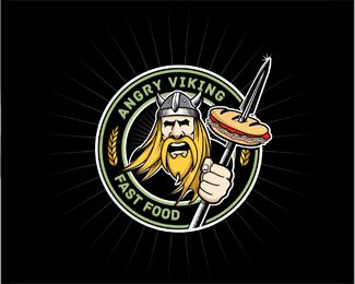 Angry Viking Logo Design