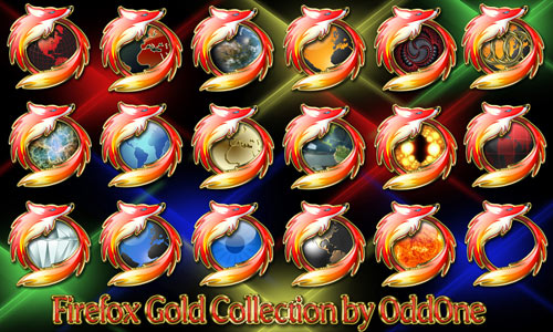 Free Firefox Icons Gold Collection