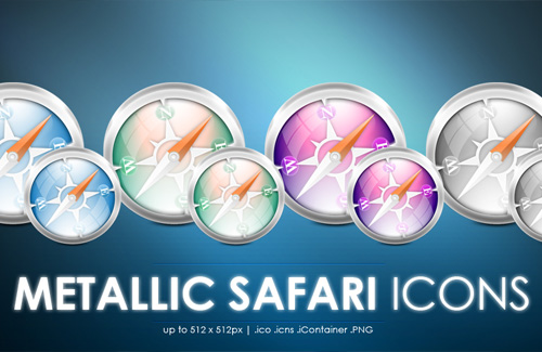 Metallic Safari Icons