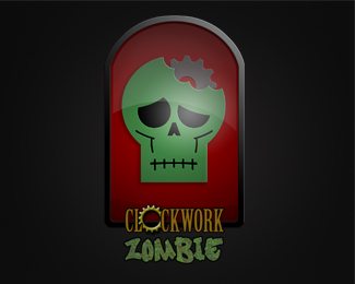 Clockwork Zombie Logo Design