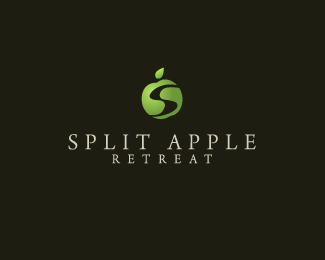 Split Apple Retreat Logo Design