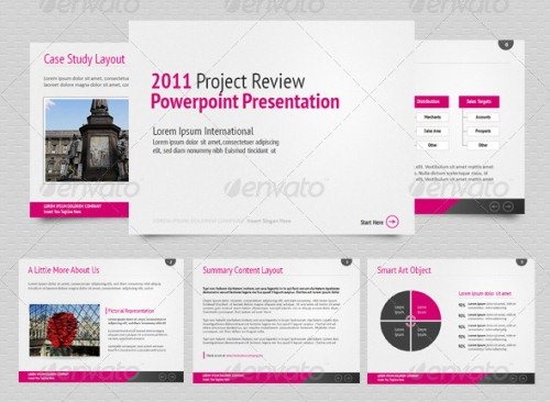 Business presentation powerpoint template flashek