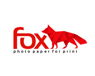 Fox Print Paper Logo Design