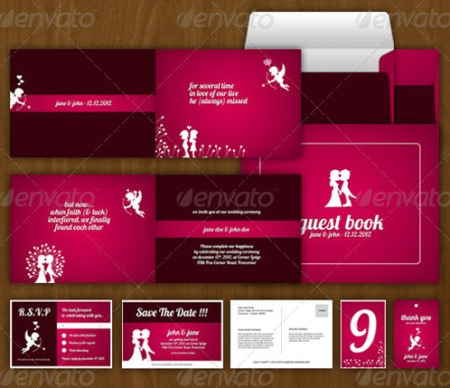 Cupid Wedding Invitation Template