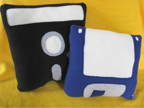 Floppy Disc Pillow Set