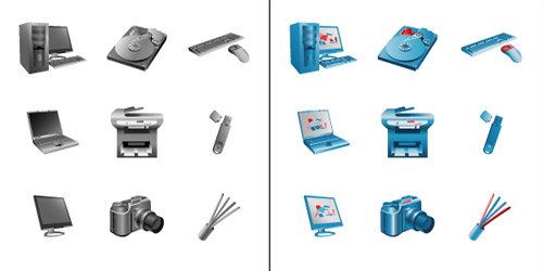 Icons for E-shop