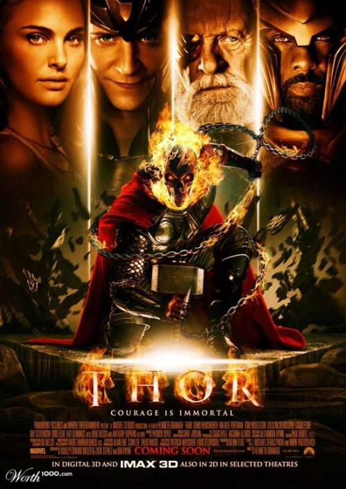 Funny Movie Poster: Thor