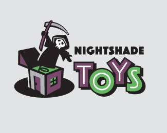 Nightshade Toys Logo Design
