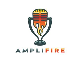 Amplifire Logo Design