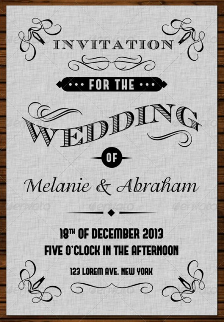 Wedding Invitation Template: 20 Wedding Invitation Cards