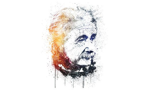 Albert Einstein Illustration