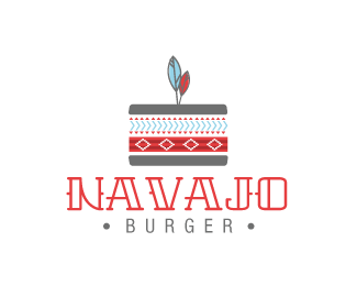 Navajo Burger Logo Design