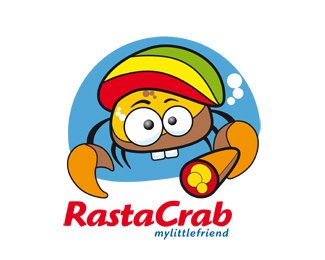 Rasta Crab Logo Design
