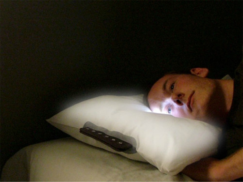 Led Pillow With Wakes Light
