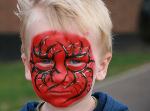 Face Painting All Done – Spiderman