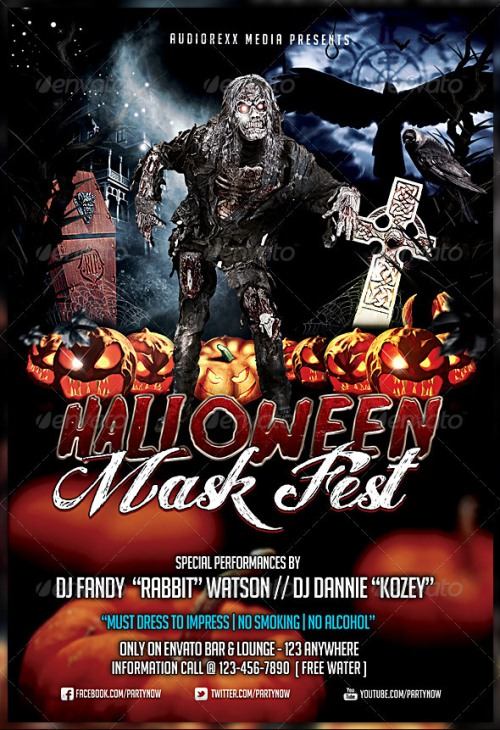 Halloween Mask Fest Flyer