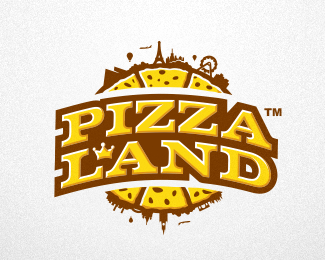 Pizza Land Logo Design