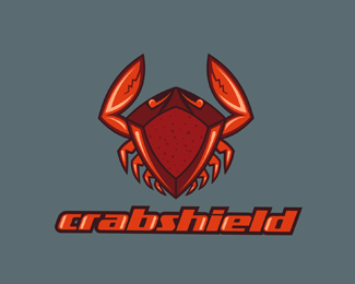 Crab Shield Logo Design