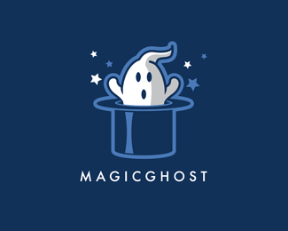 Magic Ghost Logo Design