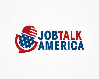 Job Talk America Logo Design