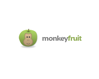 Monkey Fruit Logo Design