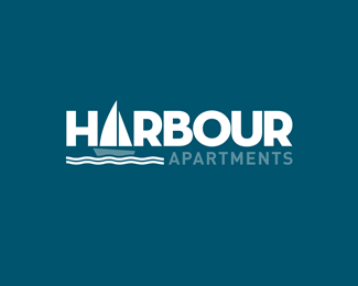 Harbour Apartments Logo Design