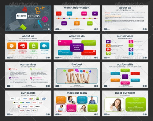 Multi Trends Business PowerPoint Template