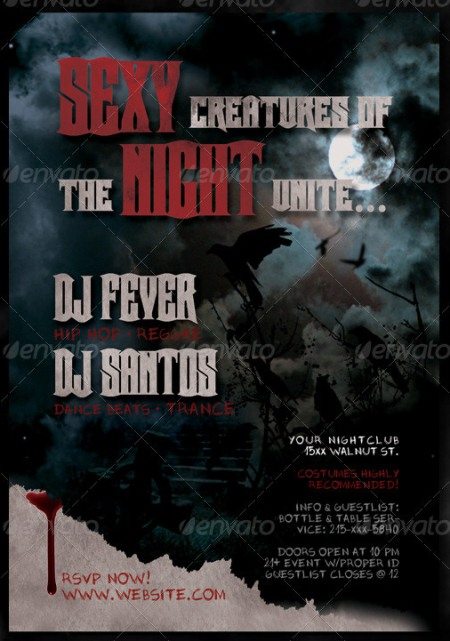 Horror Halloween Flyer