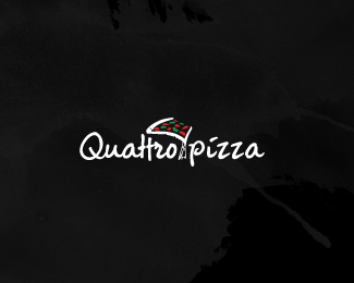 Quattro Pizza Logo Designs