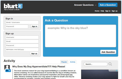 Blurtit - Ask Questions, Get Free Answers