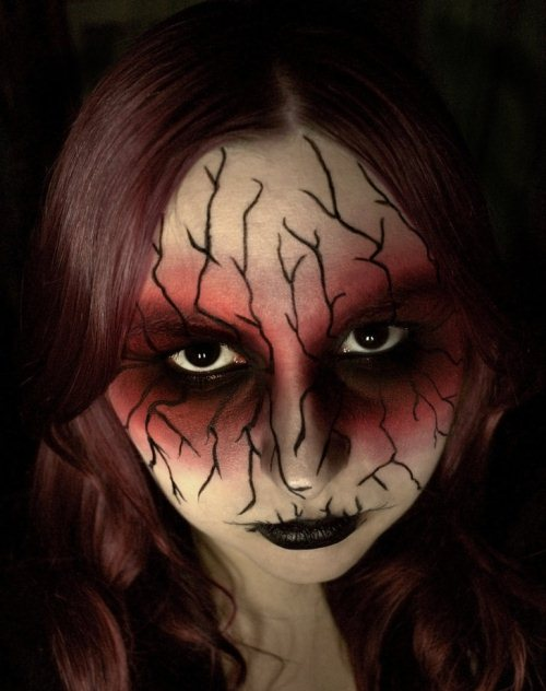 20 Scary Halloween Makeup Ideas for Horror Party - Cool And Easy Halloween Makeup