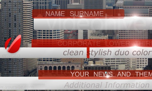 Bussines News Lower Third Pack Full HD