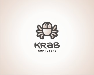 Krab Computers Logo Design