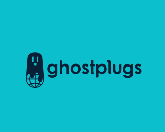 Ghostplugs Halloween Logo Design