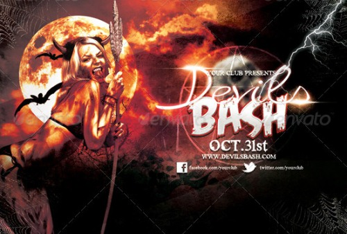 Devils Bash Halloween Flyer Template
