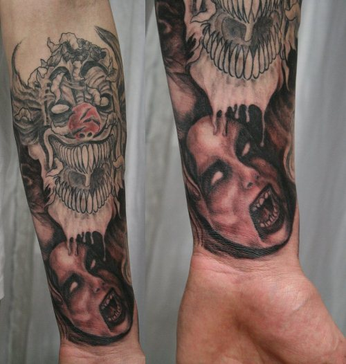 Horror Arm Sleeve Tattoo