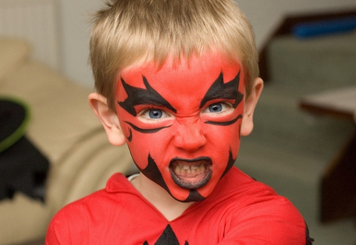 25 Artistic Halloween Face Painting Ideas for Kids Cute Halloween Flyer Templates