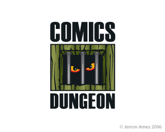 Comics Dungeon Logo Design