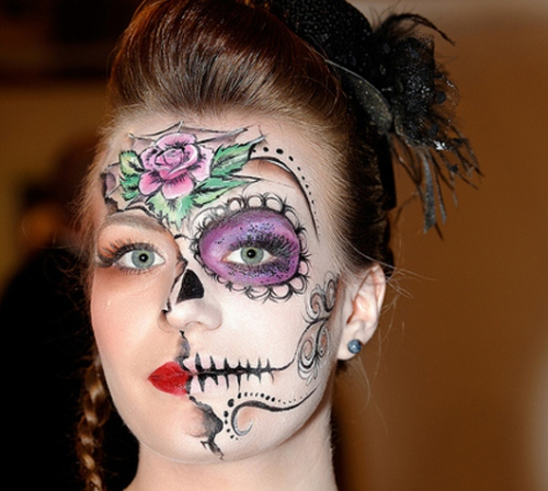 Flowers Halloween Makeup Ideas