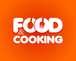 Food&Cooking.com Logo Design