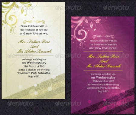 Modern Wedding Invitation Cards