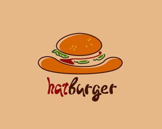 HatBurger Logo Design