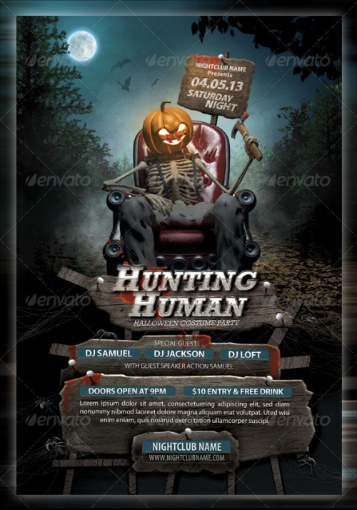 Hunting Human Music Flyer
