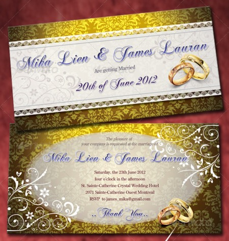 Elegant Wedding Invitation Templates