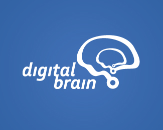 Digital Brain Logo Design