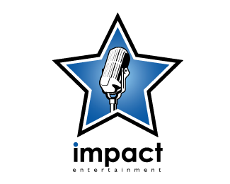 Impact Entertainment Logo Design