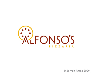 Alfonso's Pizzaria Logo Design